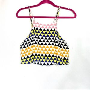 Forever 21 Geometrical Crop Top w/ Side cute outs